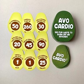 100 Avo Cardio 'Burn Off An Avocado' Cards