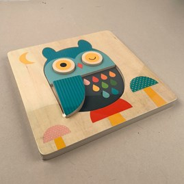 Children's Owl Chunky Wooden Tray Puzzle