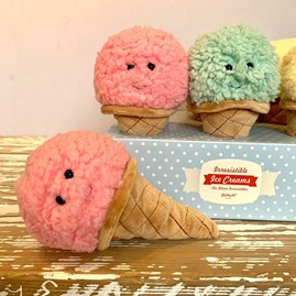 Jellycat Irresistible Ice Cream Strawberry Soft Toy