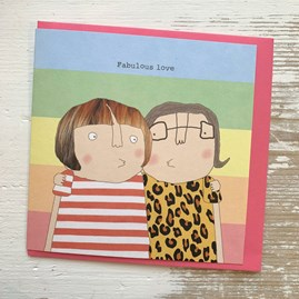 'Fabulous Love' Greetings Card