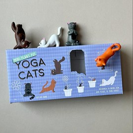 Plant Pot Yoga Cats