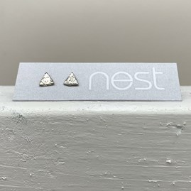 Sterling Silver Mini Triangle Stud Earrings
