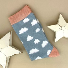 Bamboo Cloud Socks In Powder Blue