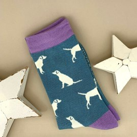 Bamboo Labrador Socks in Blue