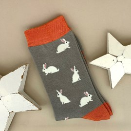 Bamboo Rabbit Socks in Grey