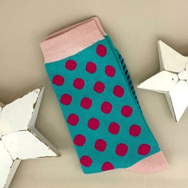 Bamboo Blue Dotty Socks