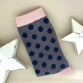 Bamboo Grey Dotty Socks