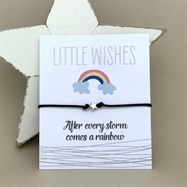 'After Every Storm Comes A Rainbow' Wish Bracelet