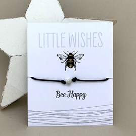 'Bee Happy' Wish Bracelet