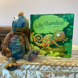 Jellycat Colin Chameleon Children's Book