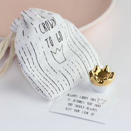 Porcelain Crown 'Keep Your Chin Up' Sentiment