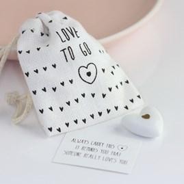 Pocket Porcelain 'Heart To Go' Sentiment