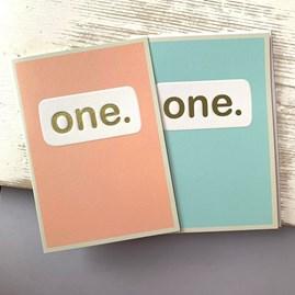 'One.' Children's Birthday Card
