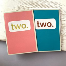 'Two.' Children's Birthday Card