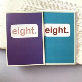 'Eight.' Children's Birthday Card