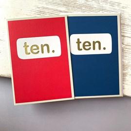 'Ten.' Children's Birthday Card