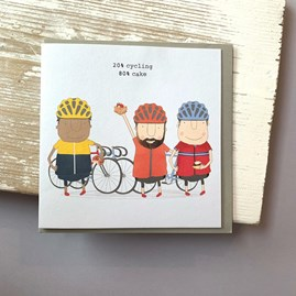 '20% Cycling 80% Cake' Greetings Card