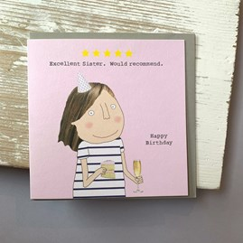 'Excellent Sister...' Greetings Card