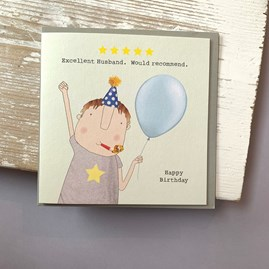 'Excellent Husband...' Greetings Card