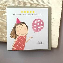 'Brilliant Niece...' Greetings Card