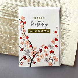 'Happy Birthday Grandma' Greetings Card