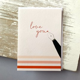 'Love You' Greetings Card