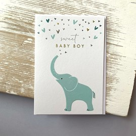 'Sweet Baby Boy' Greetings Card