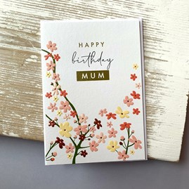 'Happy Birthday Mum' Greetings Card