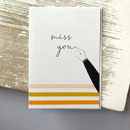 'Miss You' Greetings Card