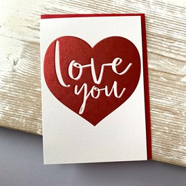 'Love You' Greetings Card