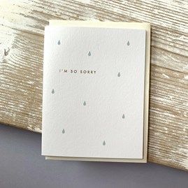 'I'm So Sorry' Greetings Card