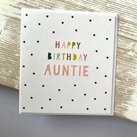 'Happy Birthday Auntie' Greetings Card