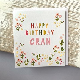 'Happy Birthday Gran' Greetings Card