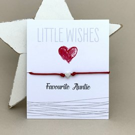 'Favourite Auntie' Wish Bracelet