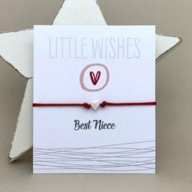 'Best Niece' Wish Bracelet