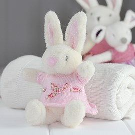 Soft White Rabbit Rattle Newborn Baby Toy