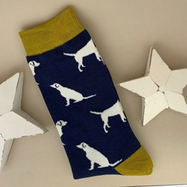 Men's Bamboo Labrador Socks in Navy