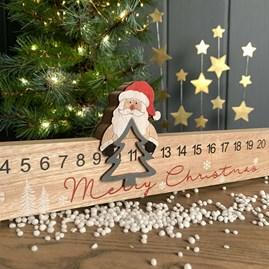 Wooden Merry Christmas Santa Advent Rule