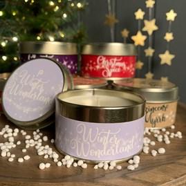 Pintail Christmas Tin Candles