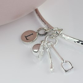 Personalised Riding Hat, Crop And Stirrup Bangle
