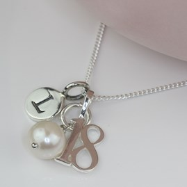 Personalised Birthday And Freshwater Pearl Necklace