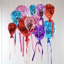 Hanging Mirrored Bright Balloon Lights