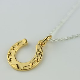 Lucky 18ct Gold Horseshoe Necklace