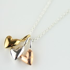 Devotion Triple Heart Necklace