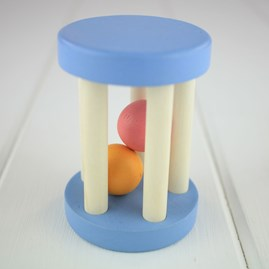 Wooden Rattle For Baby With Rattle Beads