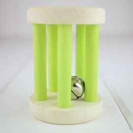 Wooden Rattle for Baby Chimes