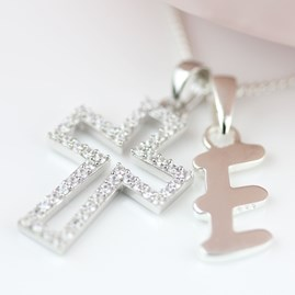Personalised Children's Christening Cross Pendant