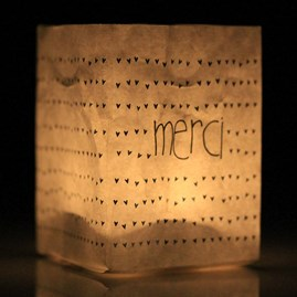 'Merci' Thank You Tealight Holder