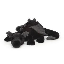 Jellycat Onyx Dragon Huge Soft Toy
