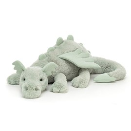 Jellycat Sage Dragon Huge Soft Toy